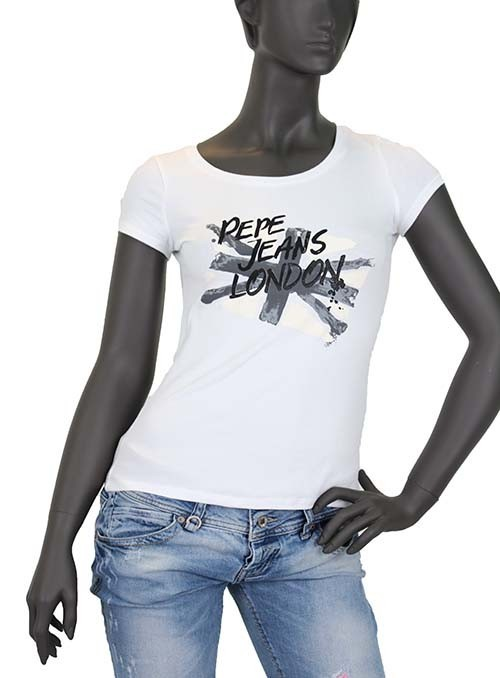 Tee shirt Pepe Jeans Ziggy Blanc
