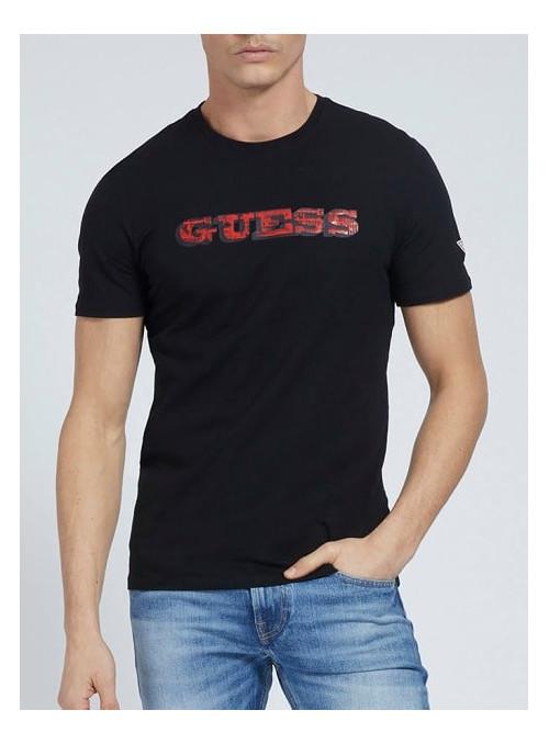 Tee Shirt GUESS Noir M1RI82J1311