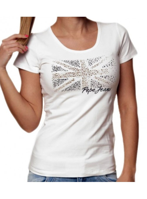 Tee shirt Pepe Jeans, Manches courtes, col rond